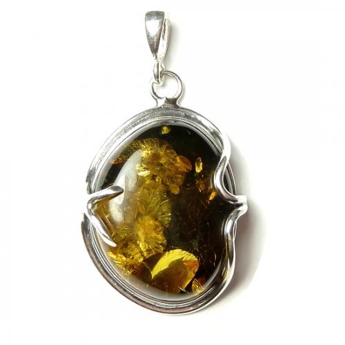 Stylish amber pendants