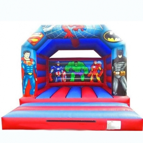 Super heros bouncy castle from Kingdom of Bounce