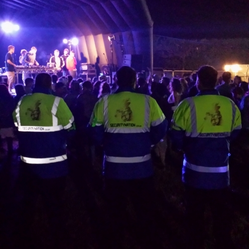 One of Security Nation's response teams at a concert.