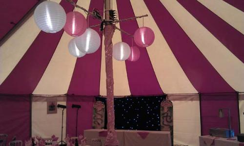 sample marquee lighting , nylon paper lanterns