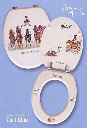 Horse Racing Gone With The Wind Toilet Seat