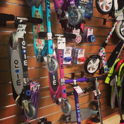 The largest stockists of Micro Scooter in the area