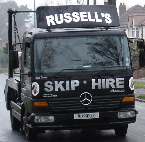russells skip hire skip hire in birmingham. Black Bedroom Furniture Sets. Home Design Ideas