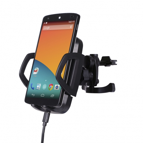 QI triple coill wireless car charger