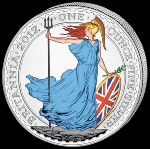 2012 Silver Britannia 1oz Colour Obv