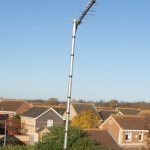 Log Periodic Aerial installed to 10 foot configuration