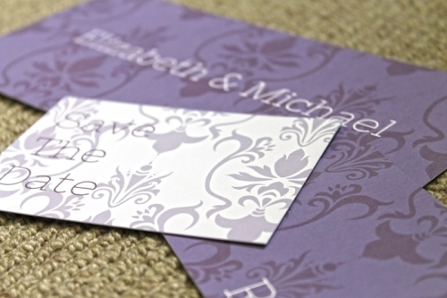 Damask Wedding Stationery Range