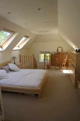Spacious Master Bedroom Converted Loft