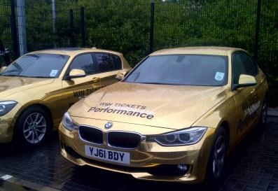 BMW GOLD CARS valeted by us for the 2012 london games