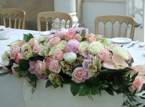 Top Table Flowers Pink Peony & Rose