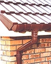 Brown Round Guttering