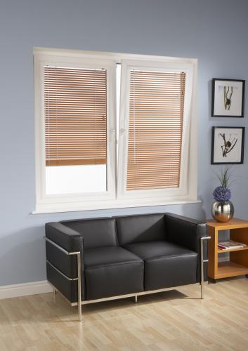 Wood Venetian Blinds and in the Perfect Fit Sytem