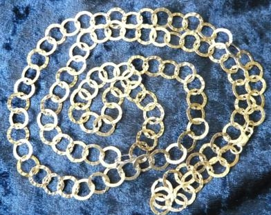 Flat Hammered Link Chain 36 Inch