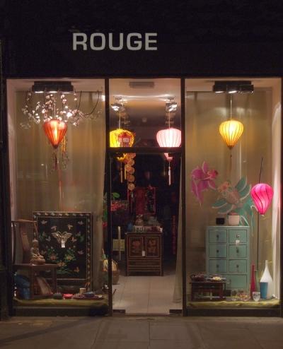 Rouge shop window