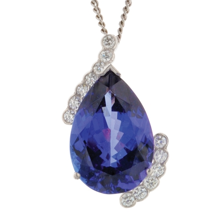 Bespoke Tanzanite and Diamond Pendant