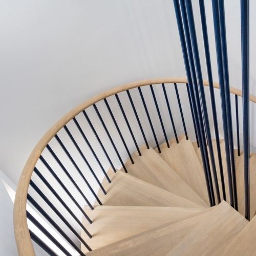Holland Park House: Steel and Oak Stair