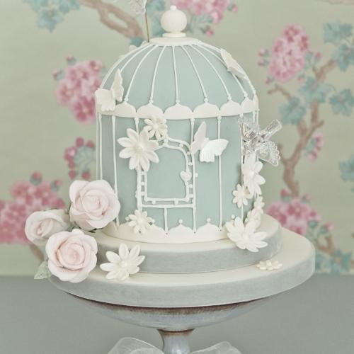 Blue Birdcage Cake 1