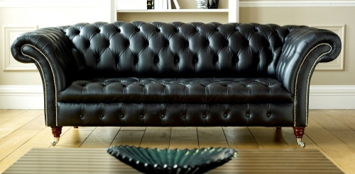 Balston Leather Chesterfield Sofa