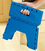 Folding Step Stool - This sturdy plastic stool helps get those things just out of reach