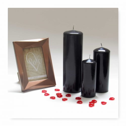Pillar Candles Black