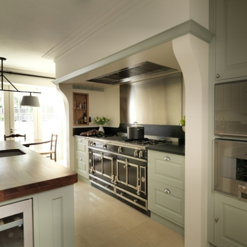 Green kitchen - Kensington - Individually designed and hand built by Tim Wood Limited