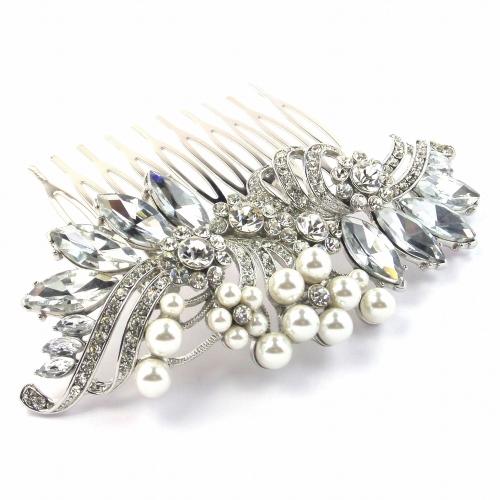 Crystal & Pearl Wedding Hair Comb