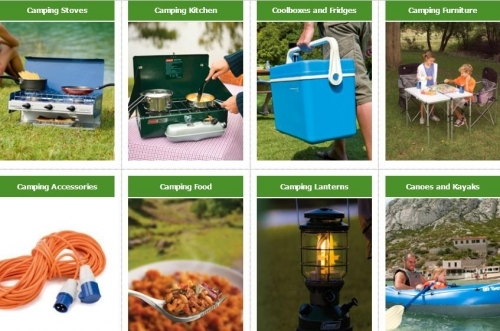 A Great Range of Camping Equipement