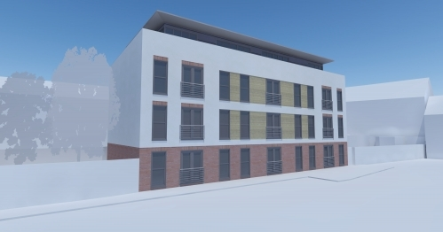 Apartment Scheme in Walsall West Midlands - 3D visual