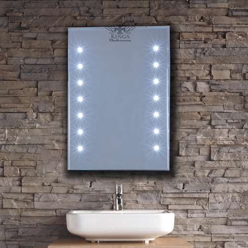 LED Bathroom mirrors with demister pad and shaver socket