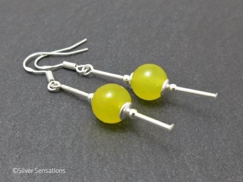 Yellow Jade Earrings