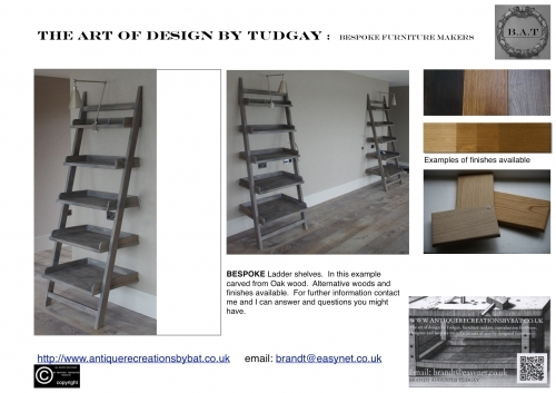 Bespoke Ladders shelves- www.bespokefurnituremakers.company