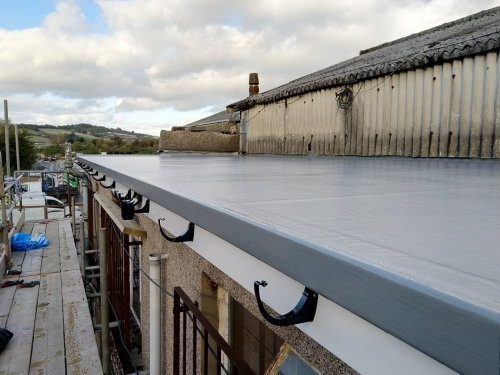 Flat Roof on industrial estate South Wales.