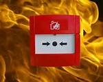 Call Point On Fire Background