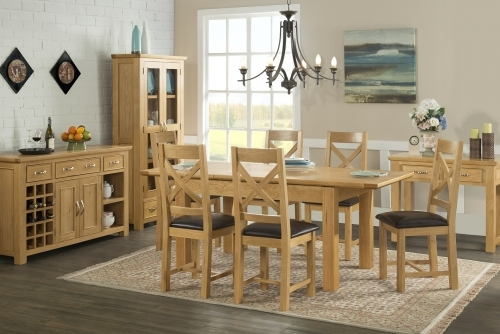 Cheshire Light Oak Dining And Living Room Furniture
