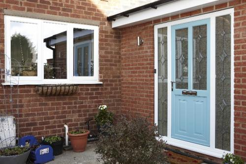 Colour Bonded PVCu Front Door