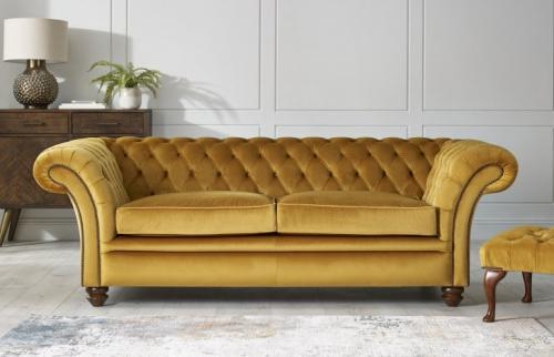 Calvert Luxury Leather Sofa - Cambio Fabric