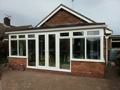 Guardian warm roof onto a new conservatory in Felixstowe