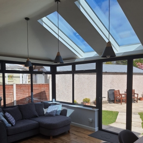 Solid Conservatory Roof with Vista Panels