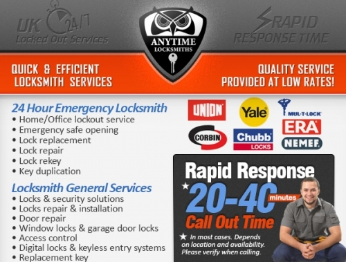 Anytime Locksmiths | Security Solutions