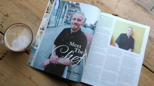 Head Chef Sam Thomas featured in Vegan Life Magazine