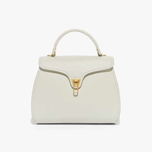 Coccinelle Small Leather Bag Chalk