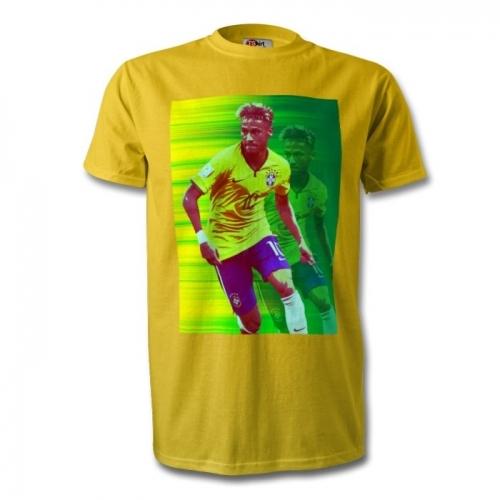 Brazil Neymar Football Art T-Shirt