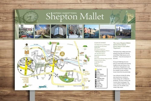 Shepton Mallet Countryside Interpretation Map Panel