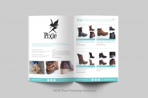 Pixie Footwear Catalogue Design