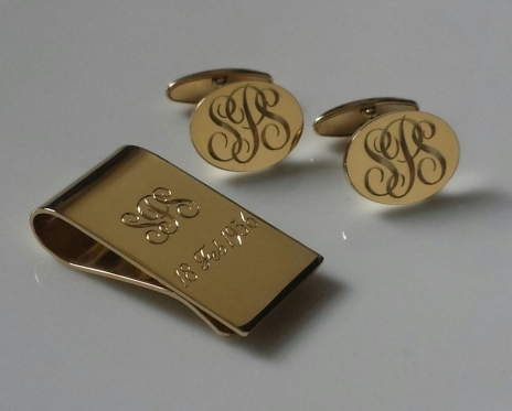 18ct Gold Cufflinks And Money Clip