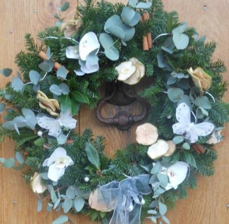 Angelic Flowers Christmas Eucylyptus Wreath To Go On Website
