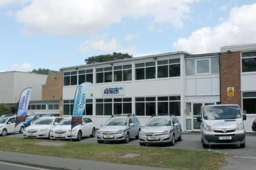 Airtech Air Conditioning Offices With New Flags
