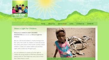Shine-A-Light Charity Website Design