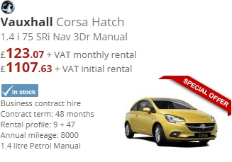 Vauxhall Corsa Hatch 1.4 i 75 SRi Nav 3Dr Manual