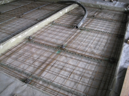 Floating floor before concrete pour